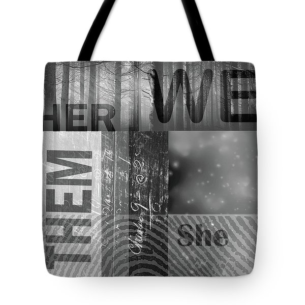 Tote Bag featuring the digital art For Her by Nancy Merkle