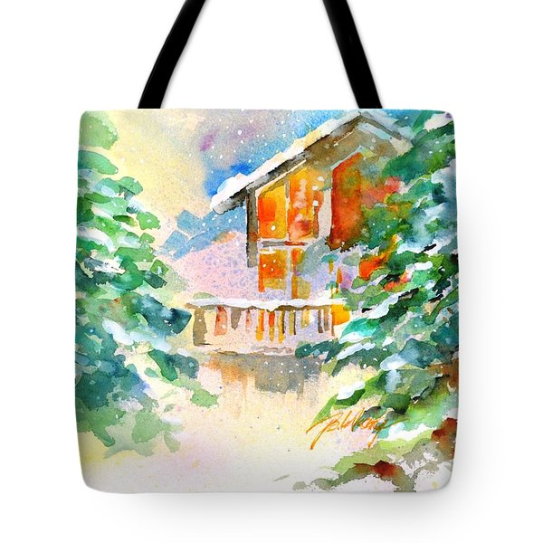 For Love Of Winter #3 Tote Bag by Betty M M Wong