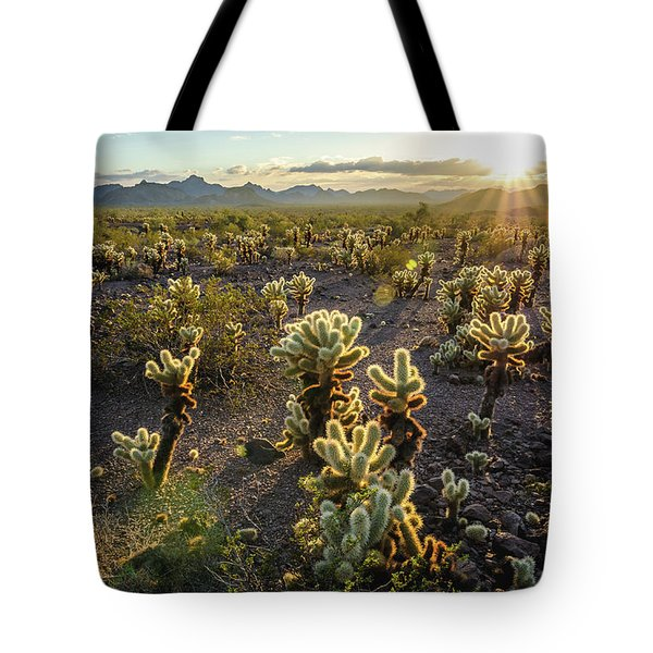 Sea Of Cholla Tote Bag