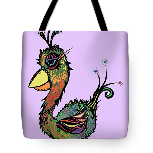Tote Bag featuring the drawing For The Birds by Tanielle Childers