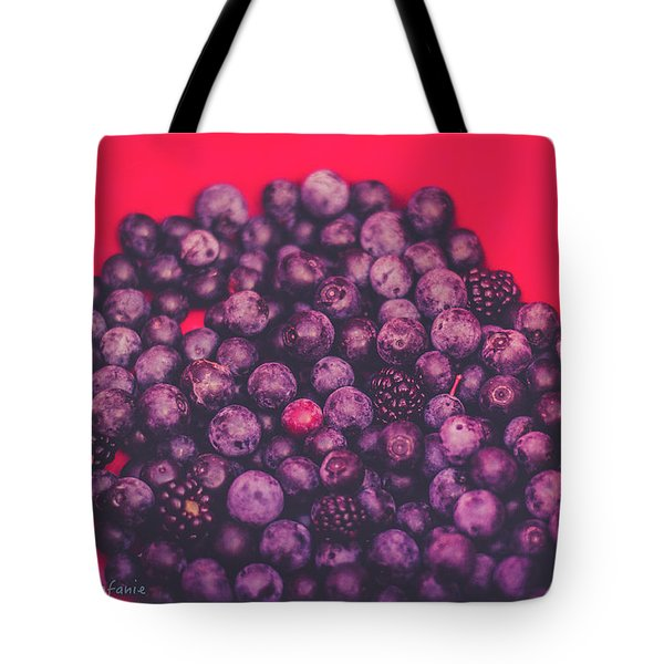 For The Love Of Berries Tote Bag by Stefanie Silva