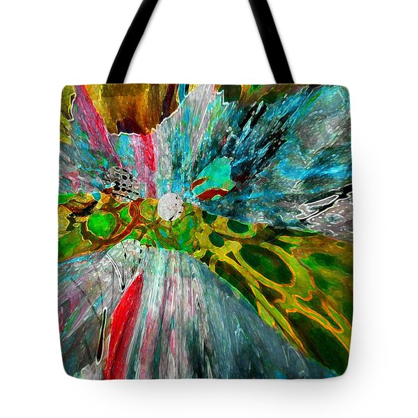 Tote Bag featuring the digital art For The Love Of Circles by Kate Word