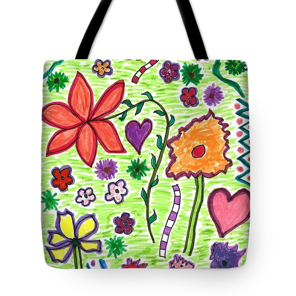 For The Love Of Flowers Tote Bag