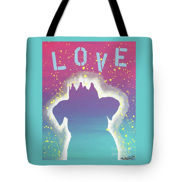 For The Love Of Pups Tote Bag by Melissa Goodrich