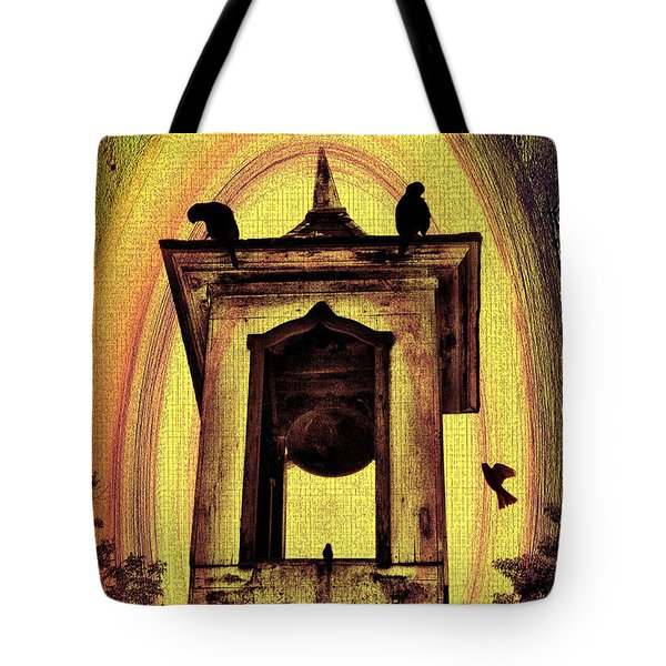 For Whom The Bell Tolls Tote Bag by Bill Cannon