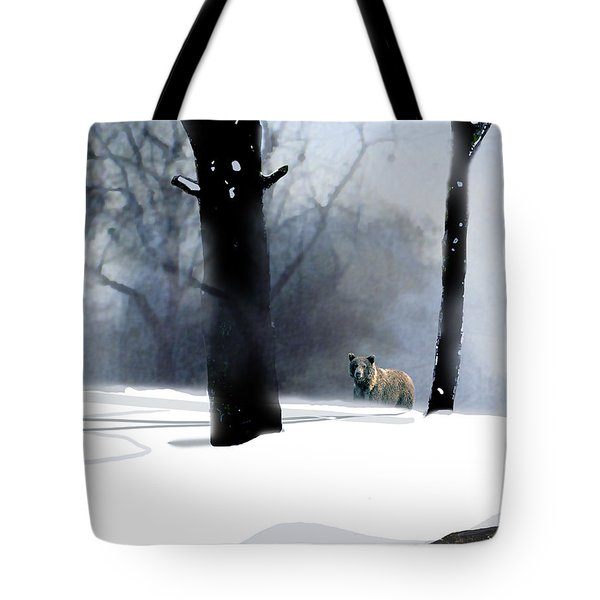 Foraging Grizzly Tote Bag