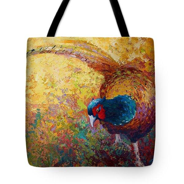 Foraging Pheasant Tote Bag