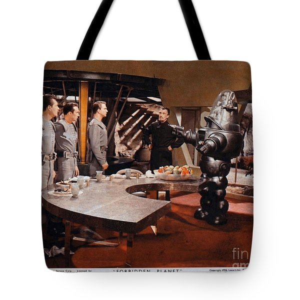 Forbidden Planet Amazing Poster Inside With Scientist Tote Bag