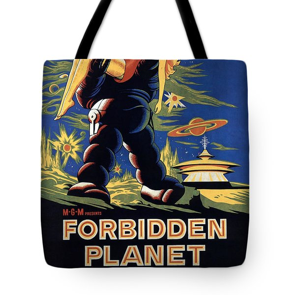 Forbidden Planet Amazing Poster Tote Bag