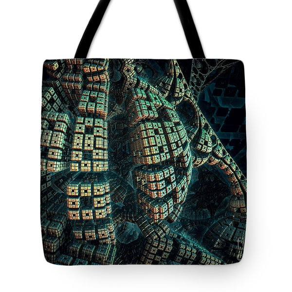 Tote Bag featuring the digital art Forbidden Planet by Melissa Messick
