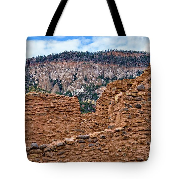 Tote Bag featuring the photograph Forbidding Cliffs by Alan Toepfer