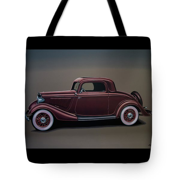 Ford 3 Window Coupe 1933 Painting Tote Bag