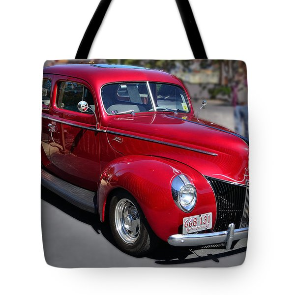 Ford 40 In Red Tote Bag by Larry Bishop