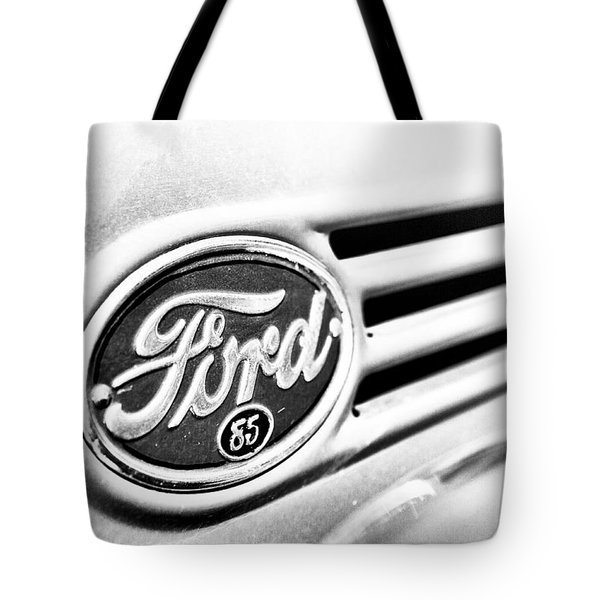 Ford 85 In Black And White Tote Bag by Caitlyn Grasso