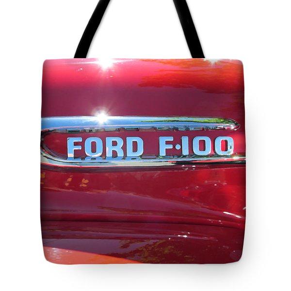 Ford F-100 Logo Tote Bag by Spyder Webb