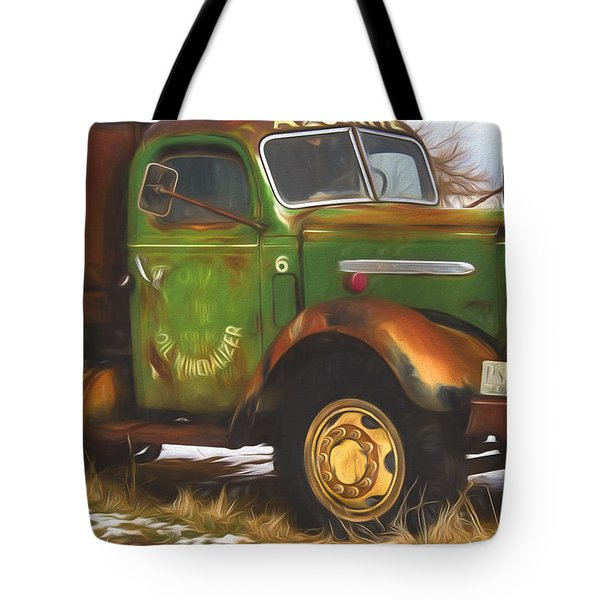 Ford Farm Truck Painterly Impressions Tote Bag
