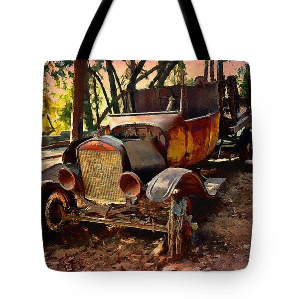 Ford Flatbed Truck Tote Bag by Glenn McCarthy Art and Photography
