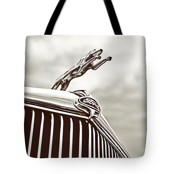 Ford Greyhound Tote Bag by Caitlyn Grasso
