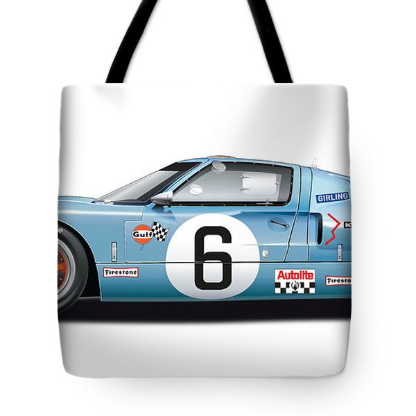 Ford Gt 40 1969 Tote Bag