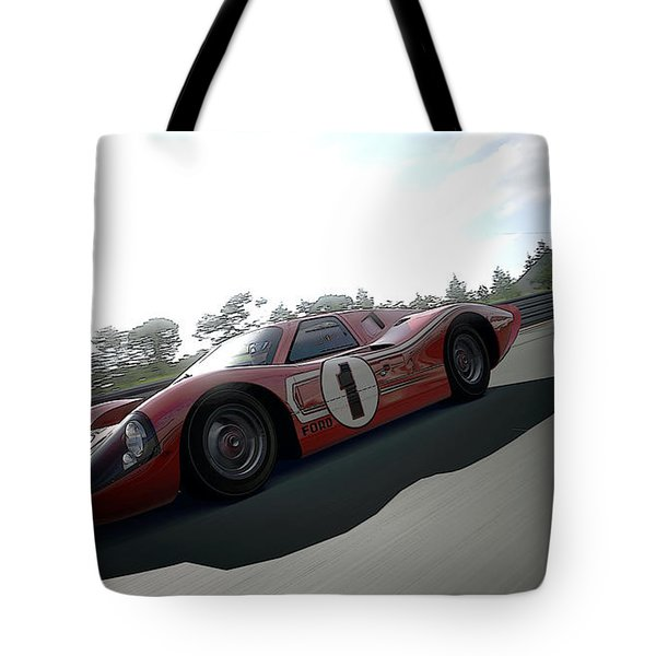Ford Gt40 Mark Iv Tote Bag