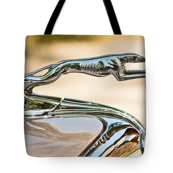 Ford Lincoln Greyhound Hood Ornament Tote Bag by Jill Reger