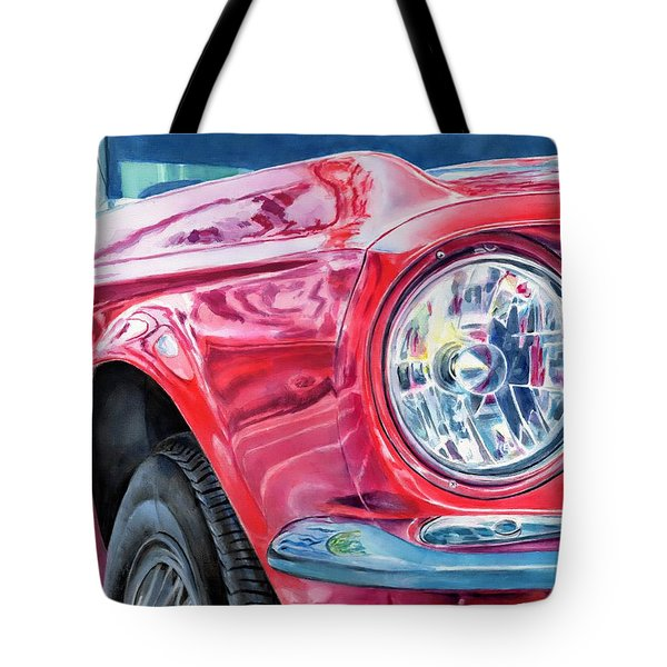Tote Bag featuring the painting Ford Mustang by John Neeve