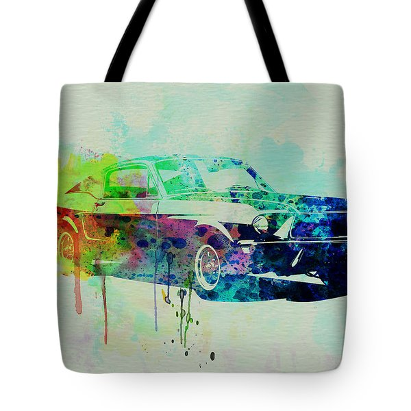 Ford Mustang Watercolor 2 Tote Bag by Naxart Studio