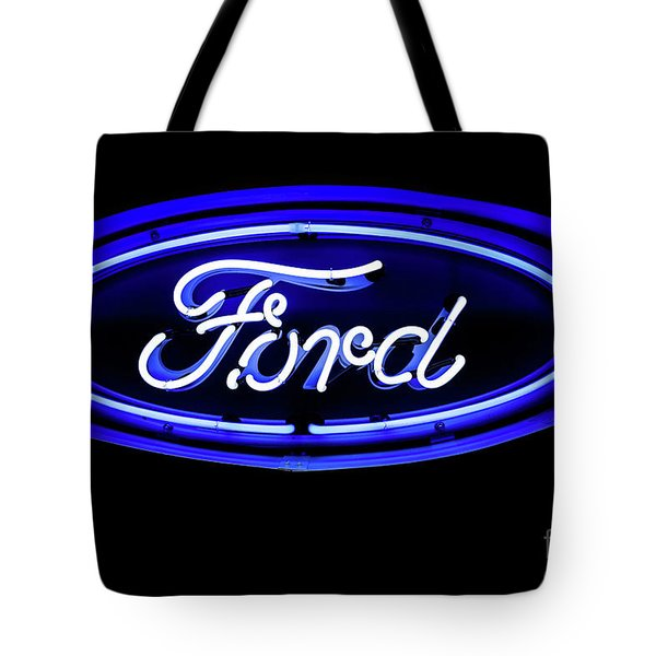 Ford Neon Sign Tote Bag