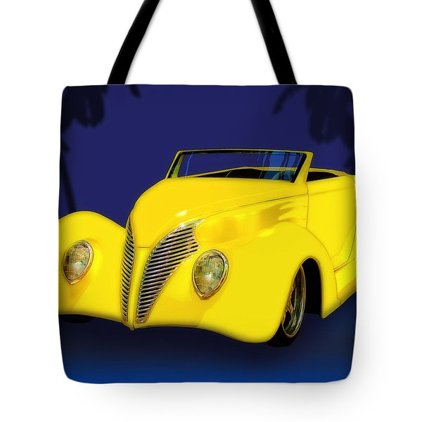 Ford Roadster 1937 In The Palms Tote Bag