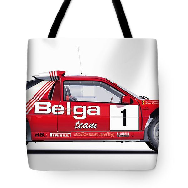 Ford Rs 200 Belga Team Illustration Tote Bag