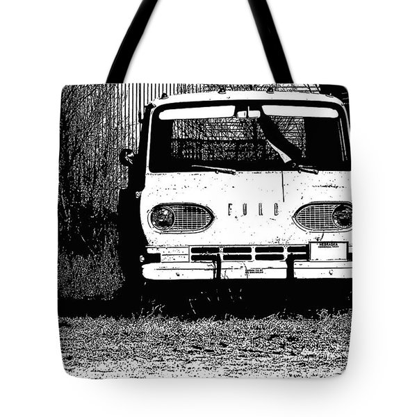 Ford Sketched In Black And White Tote Bag
