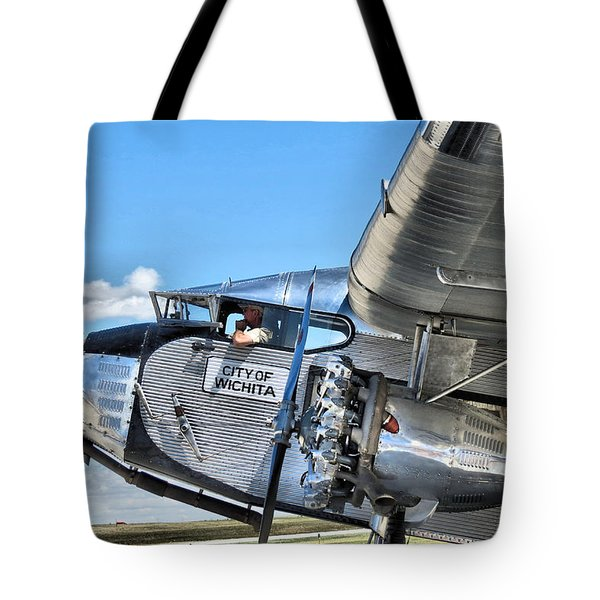 Ford Trimotor Tote Bag by Michael Daniels