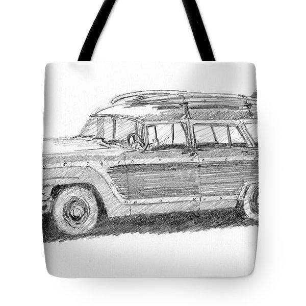 Ford Wagon Sketch Tote Bag