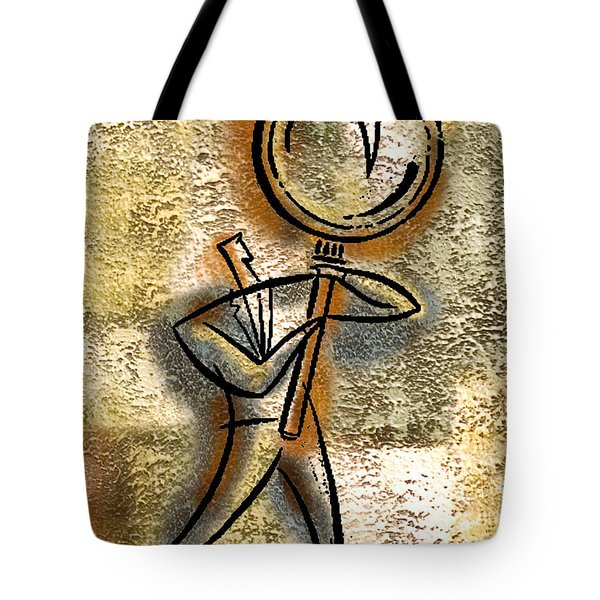 Tote Bag featuring the painting Forecasting by Leon Zernitsky