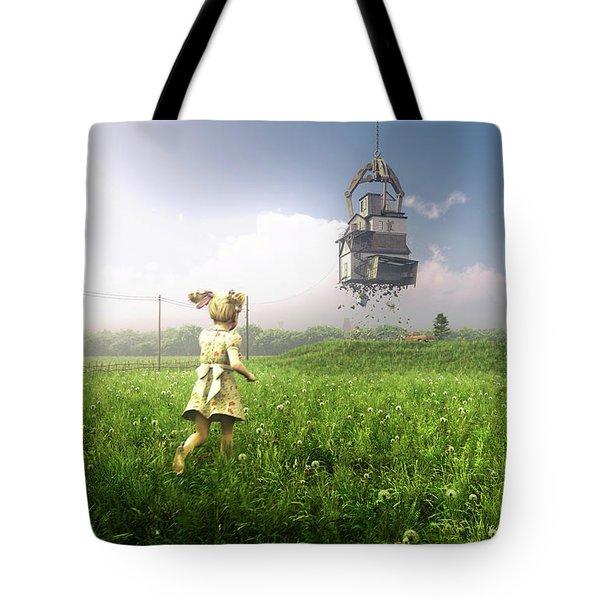 Foreclosure Tote Bag by Cynthia Decker