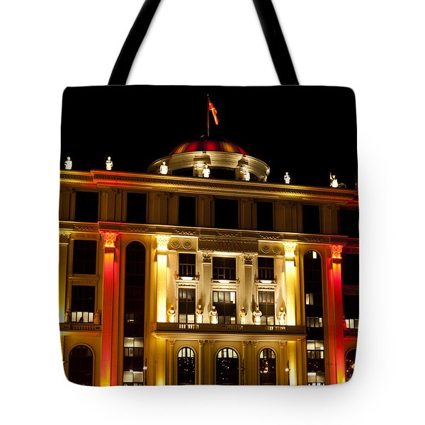 Foreign Affairs Building Tote Bag by Rae Tucker