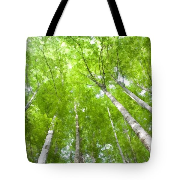 Tote Bag featuring the photograph Forest 1 by Jean Bernard Roussilhe