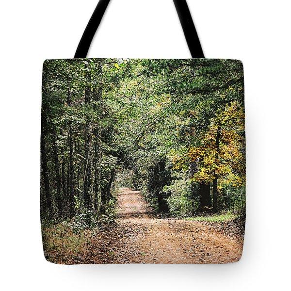 Forest Back Road Tote Bag