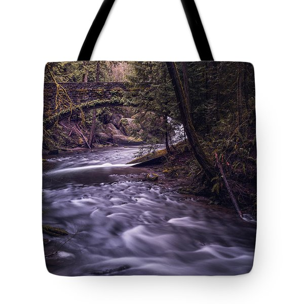Forrest Bridge Tote Bag by Chris McKenna