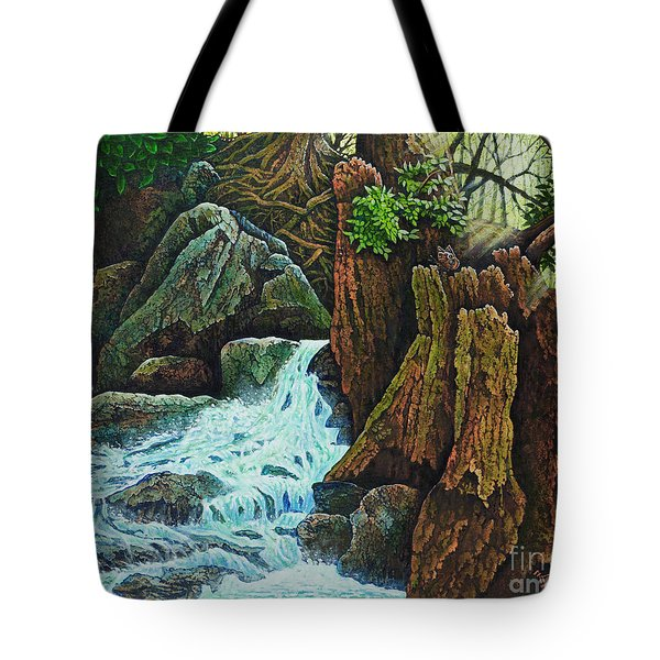 Forest Brook IIi Tote Bag by Michael Frank