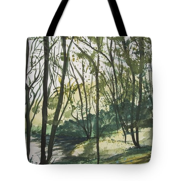 Forest By The Lake Tote Bag
