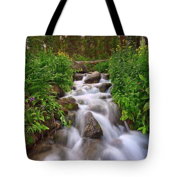 Forest Cascade Tote Bag