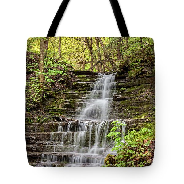 Forest Cascade Tote Bag