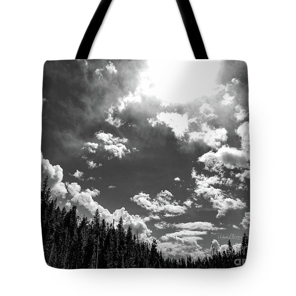 A New Day, Black And White Tote Bag