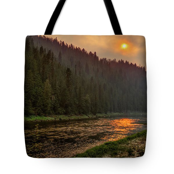 Forest Fire Sunset Tote Bag by Brad Stinson