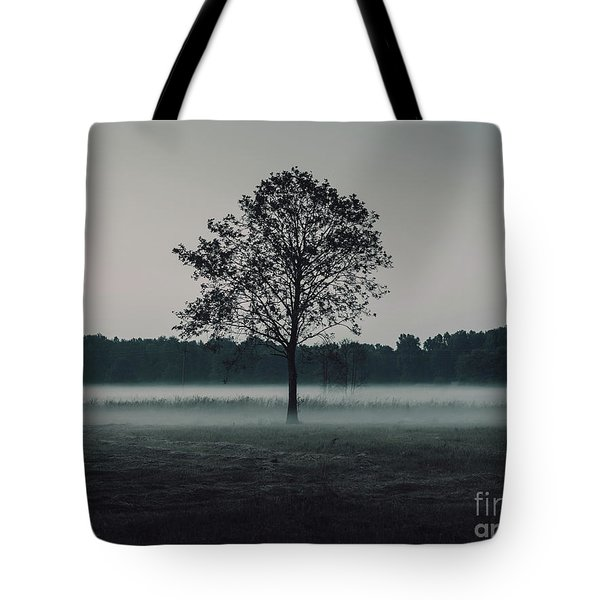 Tote Bag featuring the photograph Forest Fog by MGL Meiklejohn Graphics Licensing