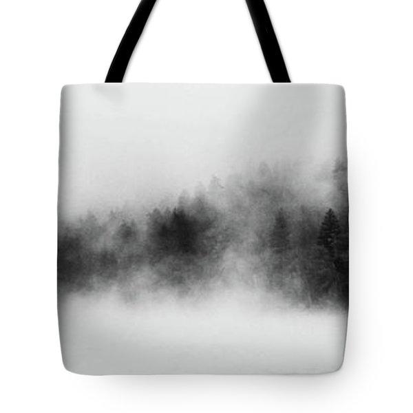 Forest Fog Tote Bag