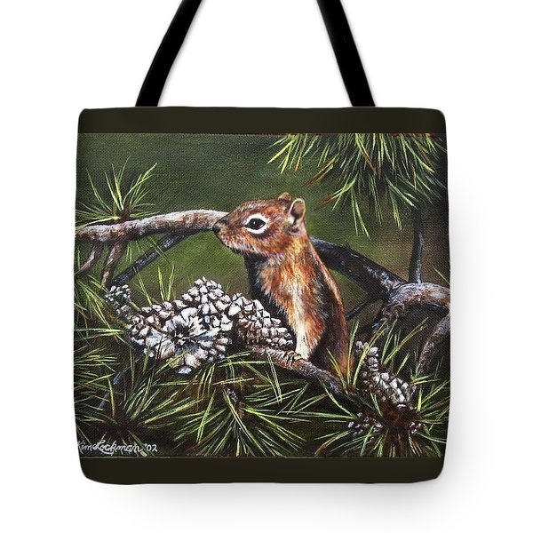 Tote Bag featuring the painting Forest Friend by Kim Lockman