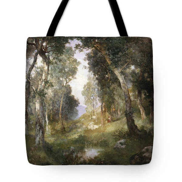 Forest Glade Tote Bag by Thomas Moran