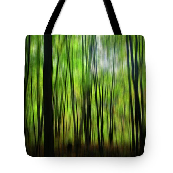 Forest Green Abstract Tote Bag